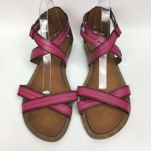 caa01ef582e Clarks Shoes - Clark s Sz 10M Pink Gladiator Flat Vegan Sandals